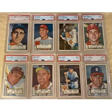 """Item #0264 - Complete 1952 Topps Baseball Set #13 on PSA Registry GPA over 7! - Micky Mantle #311 RC """"The Holly Grail """" on The PSA Registry - Incredible GPA 7.02!"""
