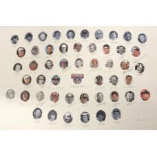 Item # 0237 - Nascar's 50 Greatest Drivers Signed Lithograph - PSA/DNA
