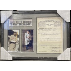 "Item #0245 - One of a Kind ""Transfer of Player"" Contract Signed by Red Sox Owner, Harry Frazee, and Yankee Owner, Jacob Ruppert, who bought Babe Ruth from the Red Sox - SOLD"