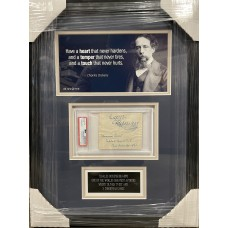 """Item #0244 - Charles Dickens - Desirable Ink Signature """" Faithfully yours, Charles Dickens"""" PSA/DNA"""