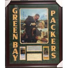 Item # 0070 - Forrest Gregg, Jerry Kramer, Vince Lombardi  of the Green Bay Packers Signed - PSA/DNA
