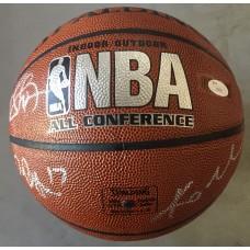 Item # 0236 - Los Angeles Lakers 2009-2010 World Champion Team Signed Basketball Kobe Bryant etc. - PSA/DNA