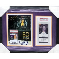 Item #0240 - Kobe Bryant - Original Last NBA Game Ticket and Commemorative Signed Card PSA - SOLD