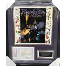 Item #0241 - Prince Rogers Nelson - Signed UK Customs Card from Purple Rain Album Debut Date - SOLD