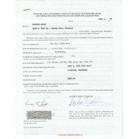"""Satchel Paige - Signed """"The Merv Griffin Show"""" 1970 Contract (PSA)"""