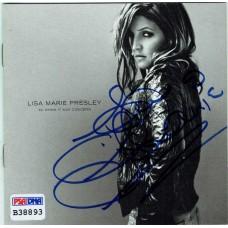 Item # 0126 - Lisa Marie Presley - Signed CD Jacket Cover - PSA
