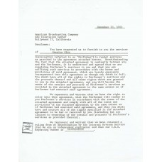 Cassius Clay - Signed 1963 Agreement Letter (PSA)