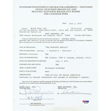 Richard Pryor - Signed 1973 Contract (PSA)
