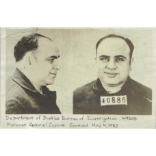 Item # 0004 - Al Capone - 1932 First Prison News Service Photograph - PSA - SOLD!