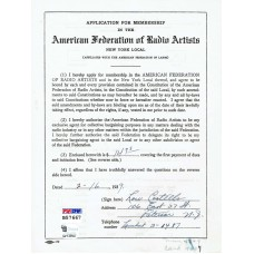 Bud Abbott and Lou Costello - Signed 1939 Contract (PSA)