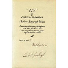 Charles Lindbergh - Signed Book Page (PSA)