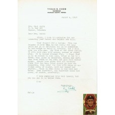 Item # 0214 - Ty Cobb - Signed 1949 Letter (PSA) SOLD!