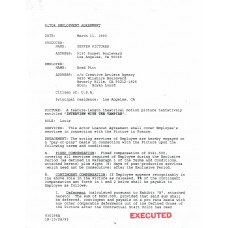 Item # 0035 - Brad Pitt - Signed 1993 Contract - PSA - SOLD!