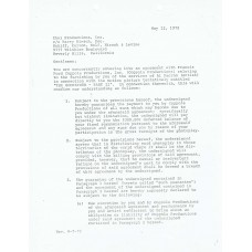 Al Pacino - Signed 1972 Godfather (Part 2) Contract (PSA)