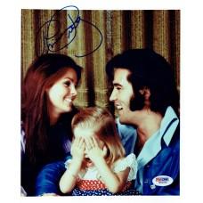 Item # 0163 - Priscilla Presley - Signed Family Photo - PSA