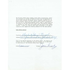 Charles D. Casey Stengel - Rare Full Name Signed 1958 Contract (PSA)