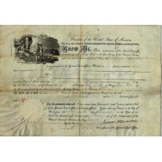 Item # 0101 - James Monroe - Signed 1818 Document - PSA - SOLD!