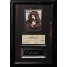 Item # 0177 - Rudolph Valentino - Signed 1925 Check - PSA