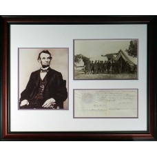 Item # 0003 - Abraham Lincoln - Signed 1865 (PSA) SOLD!