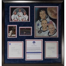 Item # 0014 - Apollo 11 Crew - (3x) Signed Letters - PSA