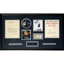Item # 0099 - World Champion Boxers James Braddock and Max Baer - Signed Display - PSA/DNA
