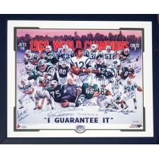 Item # 0148 - New York Jets - 1969 Team Signed Poster