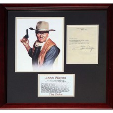 Item # 0120 - John Wayne - Signed 1977 Letter - PSA