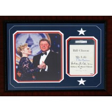 Item # 0029 - Bill and Hillary Clinton - Signed Custom Book Page - PSA