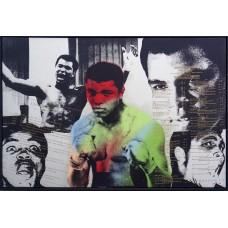 Item # 0142 - Muhammad Ali & Steve Kaufman - Signed Limited-Edition Screenprint Canvas - PSA