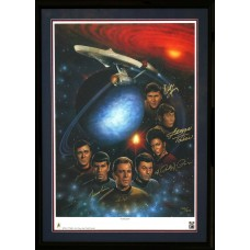 """Item # 0188 - Star Trek - """"First Family"""" Signed Lithograph - PSA - SOLD"""