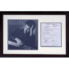 Billy Joel - Signed 2001 Contract (PSA)