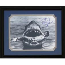 Item # 0192 - Steven Spielberg - Signed Jaws Photo - PSA