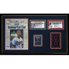 Item # 0044 - Cal Ripken Jr. - Signed Newspaper & Uniform Number - PSA/DNA