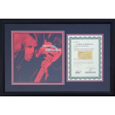 Item # 0209 - Tom Petty Mike Campbell Long After Dark Album - Signed - PSA