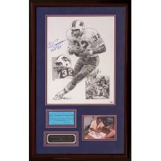 Item # 0151 - O.J. Simpson - Signed Lithograph Original Art Piece - PSA