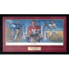 Item # 0109 - Joe Montana - Signed Lithograph - PSA