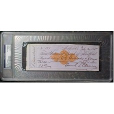 Item # 0134 - Mark Twain - Signed 1875 Check (PSA) SOLD!