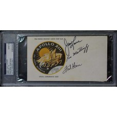 Item # 0016 - Apollo 13 - Crew Signed FDC Insurance - PSA