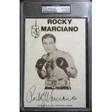 Item # 0171 - Rocky Marciano - Signed Flyer - PSA